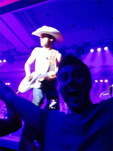 Mike's a *little* excited about you Justin Moore