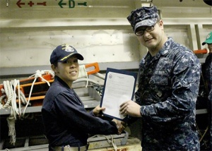 My oldest son has been in the Navy almost 3 years, and my youngest graduates Navy boot camp this coming Friday :) Go Navy!!! - Lori Keith