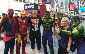Mike got screwed $20 for this pic (and later reimbursed thanks to Whit!) and Melissa got a new boyfriend #HulkLove
