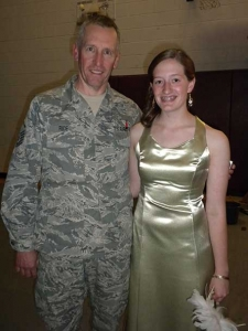 My dad and I at my senior prom. MSGT Rice with the NH Air National Guard. Truly my hero. - Brandie