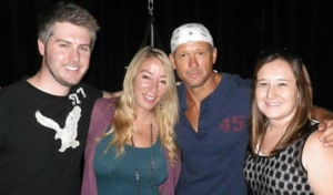 Hanging with Tim McGraw!