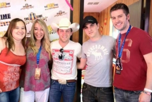 Justin Moore---KILLING it at Stagecoach---and of course, we did a shot---video on the way!!
